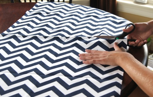 cutting fabric for chevron pillows